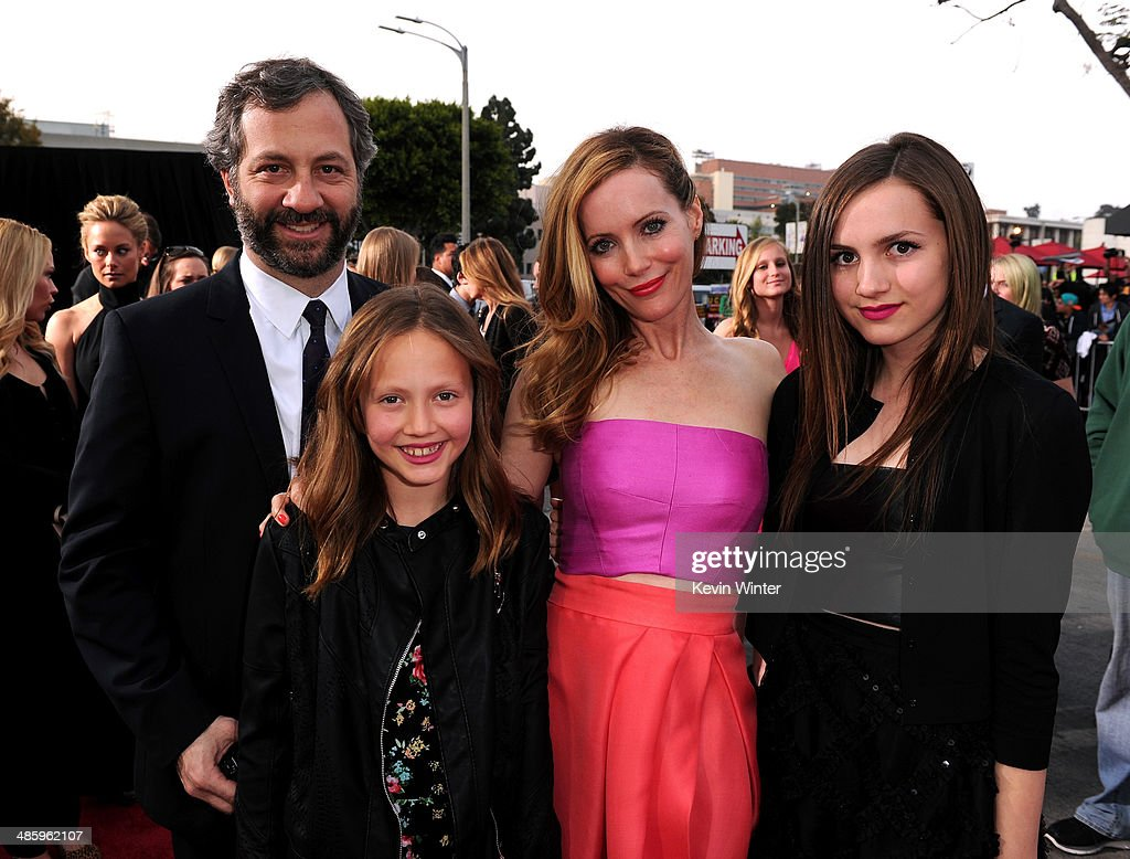 Filmmaker <a gi-track='captionPersonalityLinkClicked' href=/galleries/search?phrase=Judd+Apatow&family=editorial&specificpeople=854225 ng-click='$event.stopPropagation()'>Judd Apatow</a>, <a gi-track='captionPersonalityLinkClicked' href=/galleries/search?phrase=Iris+Apatow&family=editorial&specificpeople=4346737 ng-click='$event.stopPropagation()'>Iris Apatow</a>, actress <a gi-track='captionPersonalityLinkClicked' href=/galleries/search?phrase=Leslie+Mann&family=editorial&specificpeople=595973 ng-click='$event.stopPropagation()'>Leslie Mann</a> and <a gi-track='captionPersonalityLinkClicked' href=/galleries/search?phrase=Maude+Apatow&family=editorial&specificpeople=4346736 ng-click='$event.stopPropagation()'>Maude Apatow</a> attend the premiere of Twentieth Century Fox's 'The Other Woman' at Regency Village Theatre on April 21, 2014 in Westwood, California.