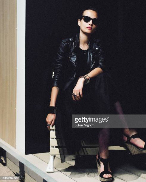 Filmmaker Julia Ducournau is photographed for Grazia Magazine on May 15 2016 in Cannes France