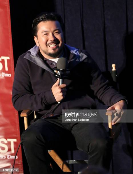 Filmmaker Justin Lin attends KCRW's The Treatment at LAFF during the 2013 Los Angeles Film Festival at DIRECTV Theater on June 19 2013 in Los Angeles...
