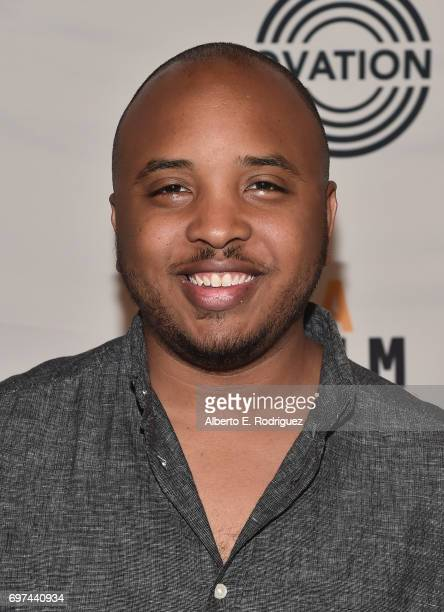 Filmmaker Justin Simien attends Coffee Talks at the 2017 Los Angeles Film Festival at the Kirk Douglas Theatre on June 18 2017 in Culver City...