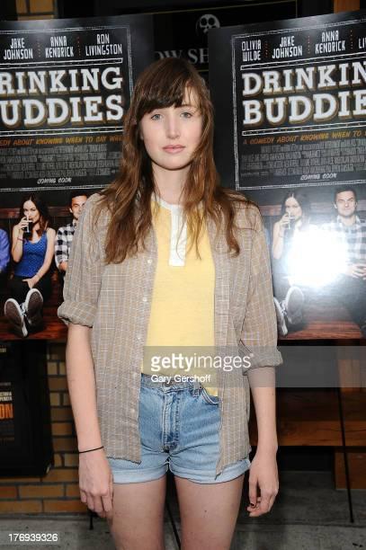 Filmmaker Kate Lyn Shiel attends the 'Drinking Buddies' screening at Nitehawk Cinema on August 19 2013 in the Brooklyn borough of New York City