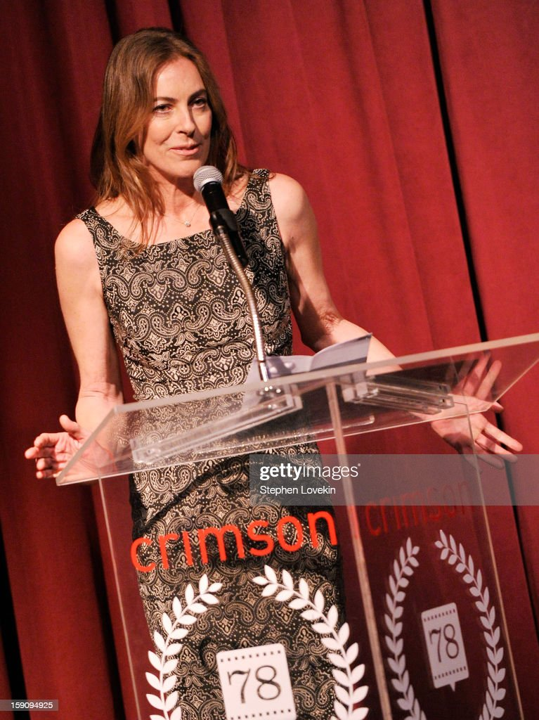 Filmmaker <a gi-track='captionPersonalityLinkClicked' href=/galleries/search?phrase=Kathryn+Bigelow&family=editorial&specificpeople=1278119 ng-click='$event.stopPropagation()'>Kathryn Bigelow</a> speaks onstage at the 2012 New York Film Critics Circle Awards at Crimson on January 7, 2013 in New York City.