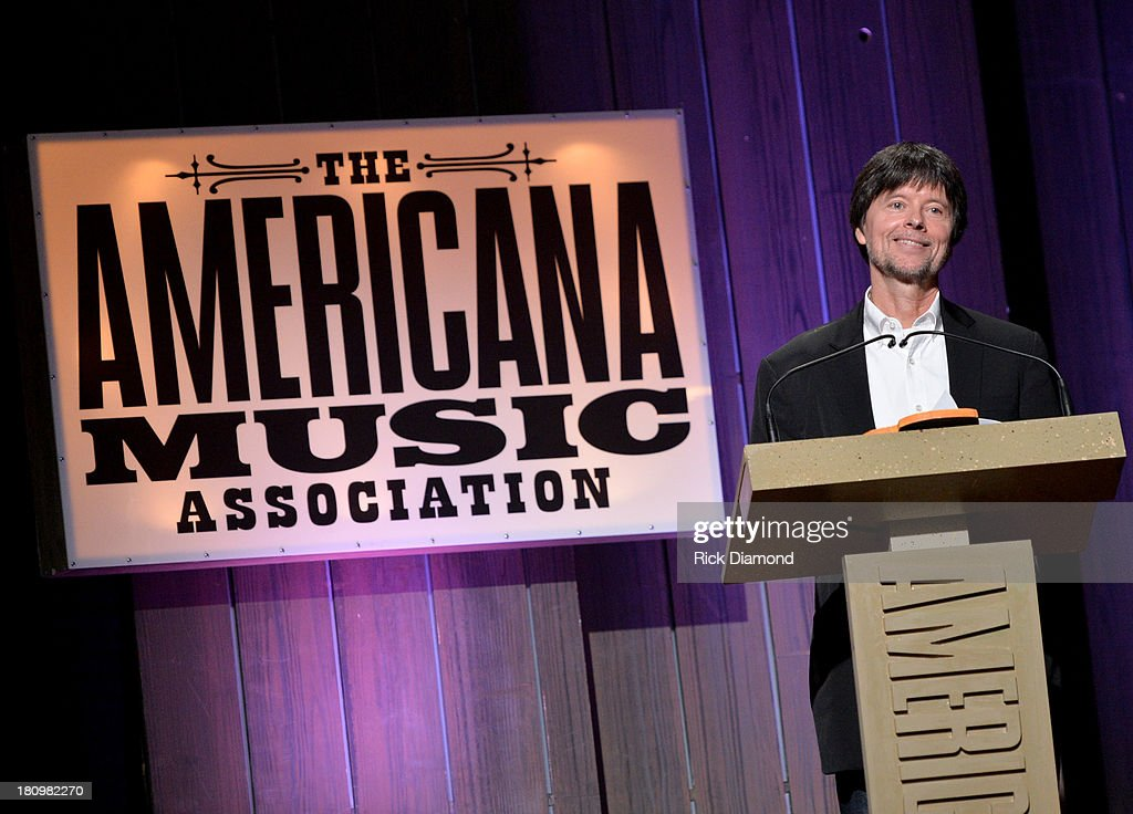 Filmmaker Ken Burns presents the Presidents Award at the 12th Annual Americana Music Honors And Awards Ceremony Presented By Nissan on September 18, 2013 in Nashville, Tennessee.