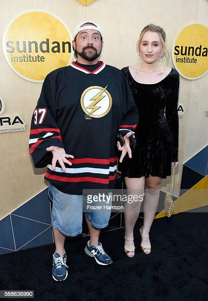Filmmaker Kevin Smith and actress Harley Quinn Smith attend the Sundance Institute NIGHT BEFORE NEXT Benefit at The Theatre at The Ace Hotel on...