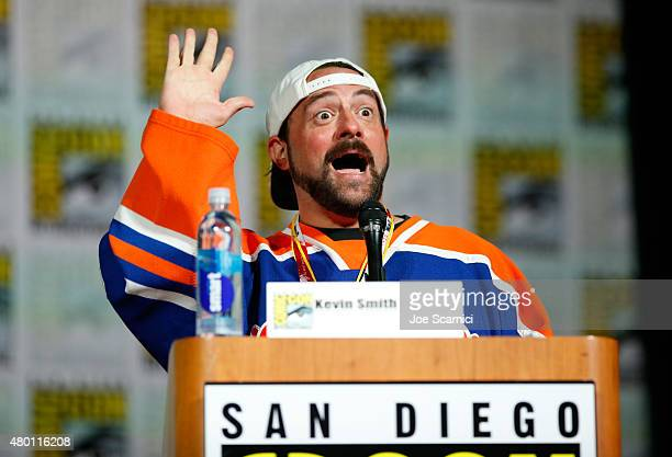 Filmmaker Kevin Smith speaks onstage at MTV's 'Teen Wolf' panel during ComicCon International 2015 at the San Diego Convention Center on July 9 2015...
