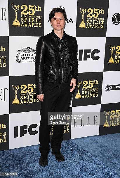 Filmmaker Kimberly Peirce arrives at the 25th Film Independent Spirit Awards held at Nokia Theatre LA Live on March 5 2010 in Los Angeles California