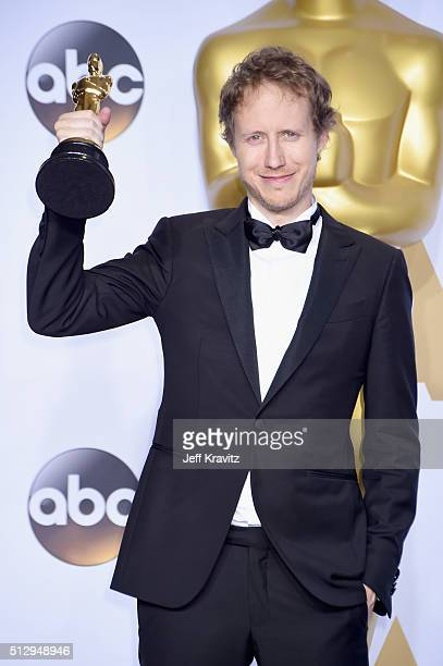 Filmmaker Laszlo Nemes winner of the Best Foreign Language Film award for 'Son of Saul' poses in the press room during the 88th Annual Academy Awards...