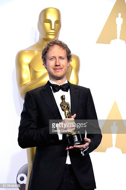 Filmmaker Laszlo Nemes winner of the Best Foreign Language Film for 'Son of Saul' poses in the press room during the 88th Annual Academy Awards at...