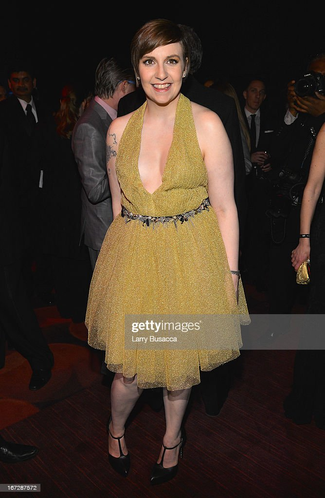 Filmmaker Lena Dunham attends the TIME 100 Gala, TIME'S 100 Most Influential People In The World reception at Jazz at Lincoln Center on April 23, 2013 in New York City.