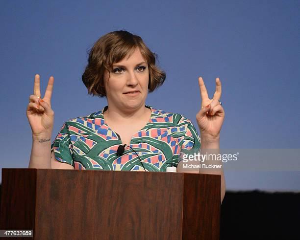 Filmmaker Lena Dunham speaks during the SXSW 2014 Film Keynote during the 2014 SXSW Music Film Interactive Festival at the Austin Convention Center...