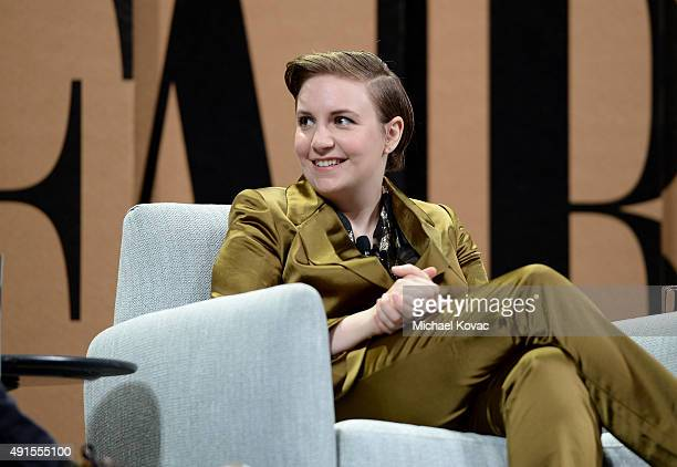 "Filmmaker Lena Dunham speaks onstage during 'You ""Like"" It … So Now What' at the Vanity Fair New Establishment Summit at Yerba Buena Center for the..."