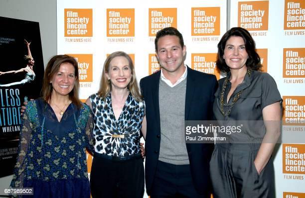 Filmmaker Linda Saffire ballerina Wendy Whelan Adam Schlesinger and producer Diana DiMenna attend the 'Restless Creature Wendy Whelan' Opening Night...