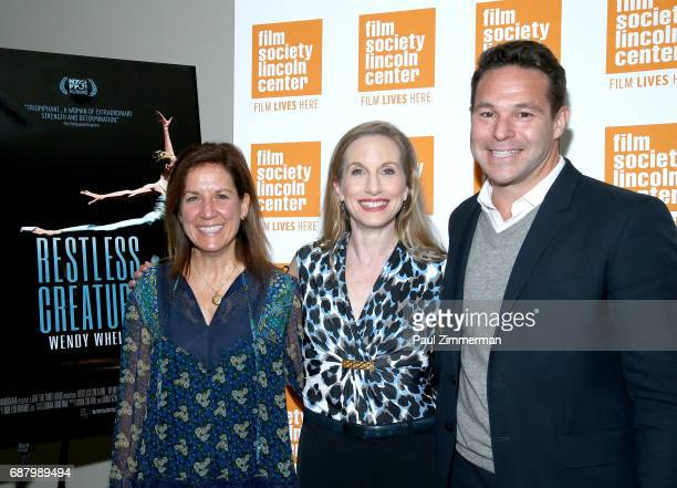 Filmmaker Linda Saffire ballerina Wendy Whelan and Adam Schlesinger attend the 'Restless Creature Wendy Whelan' Opening Night Screening at Elinor...