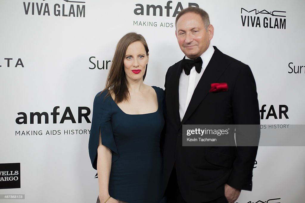 Filmmaker Liz Goldwyn and John Dempsey attend the 2013 amfAR Inspiration Gala Los Angeles at Milk Studios on December 12, 2013 in Los Angeles, California.