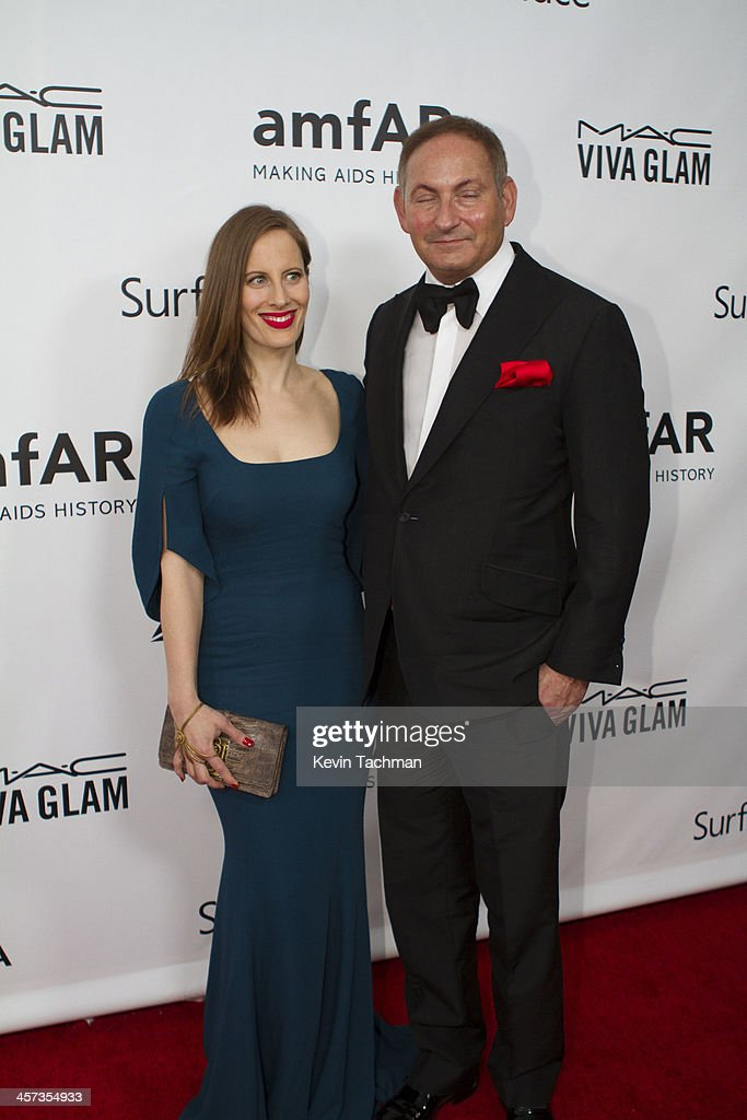 Filmmaker Liz Goldwyn and John Dempsey attend the 2013 amfAR Inspiration Gala Los Angeles at Milk Studios on December 12, 2013 in Los Angeles, California.
