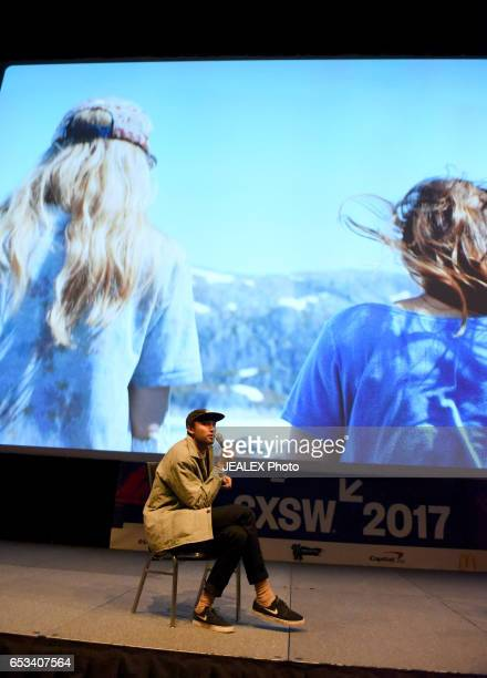 Filmmaker Maceo Frost speaks onstage at 'Vimeo Staff Picks Live Director's Commentary' during 2017 SXSW Conference and Festivals at Vimeo on March 14...