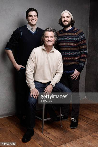 Filmmaker Maclain Way actor Kurt Russell and filmmaker Chapman Way pose for a portrait during the 2014 Sundance Film Festival at the WireImage...