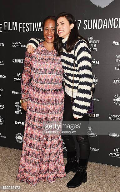 Filmmaker Maggie Betts and Actress Margaret Qualley attend the 'Novitate' premiere during day 2 of the 2017 Sundance Film Festival at Eccles Center...