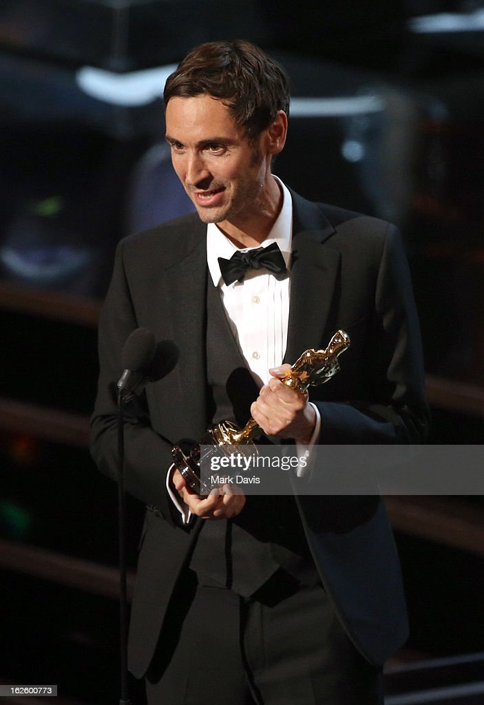 Filmmaker Malik Bendjelloul accepts the Best Documentary - Feature award for 'Searching for Sugar Man' onstage during the Oscars held at the Dolby Theatre on February 24, 2013 in Hollywood, California.