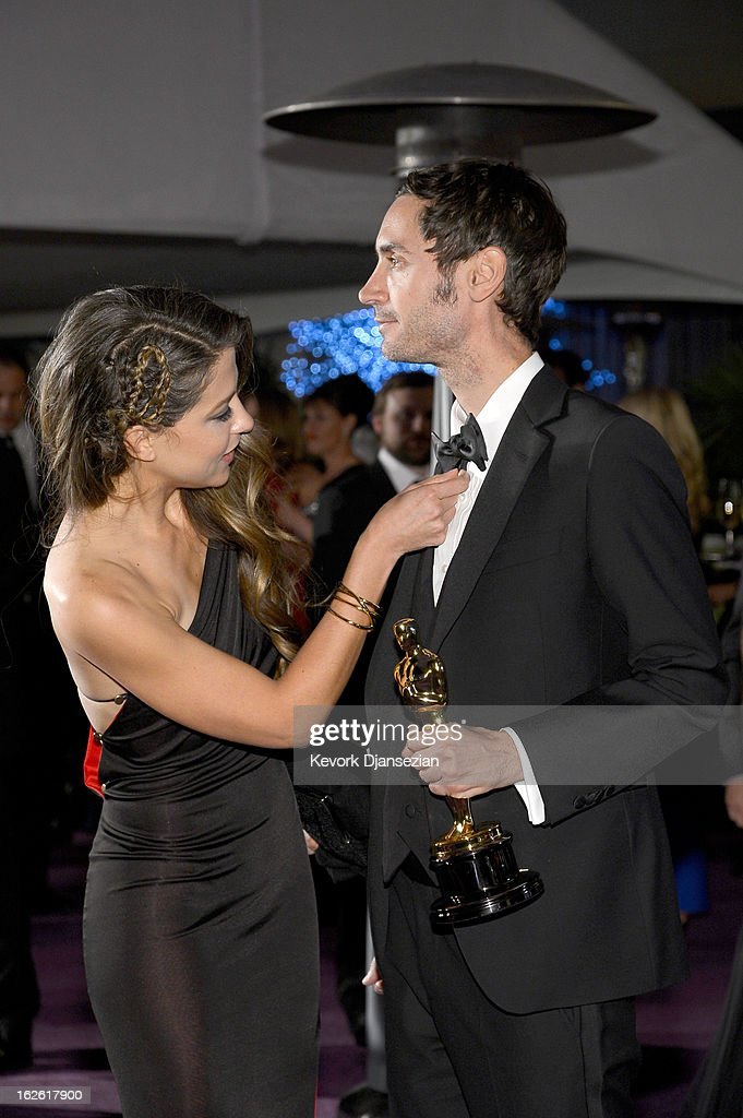 Filmmaker Malik Bendjelloul (L), winner of the Best Documentary Feature award for 'Searching for Sugar Man,' and filmmaker Brittany Huckabee attend the Oscars Governors Ball at Hollywood Highland Center on February 24, 2013 in Hollywood, California.
