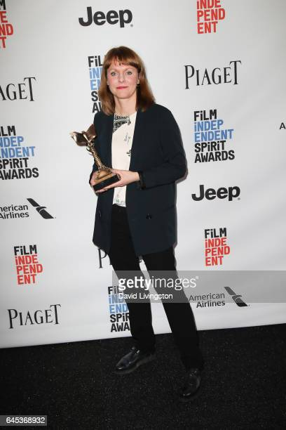 Filmmaker Maren Ade winner of the Best International Film award for 'Toni Erdmann' poses in the press room during the 2017 Film Independent Spirit...