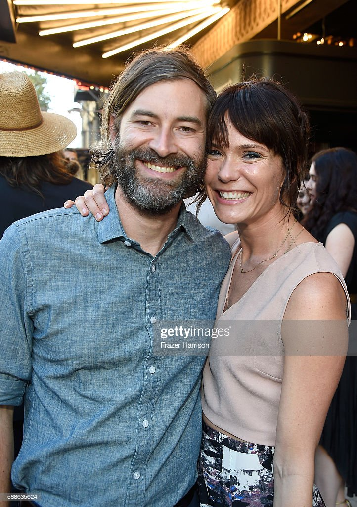 Filmmaker Mark Duplass and actress Katie Aselton attend the Sundance Institute NIGHT BEFORE NEXT Benefit at The Theatre at The Ace Hotel on August 11...