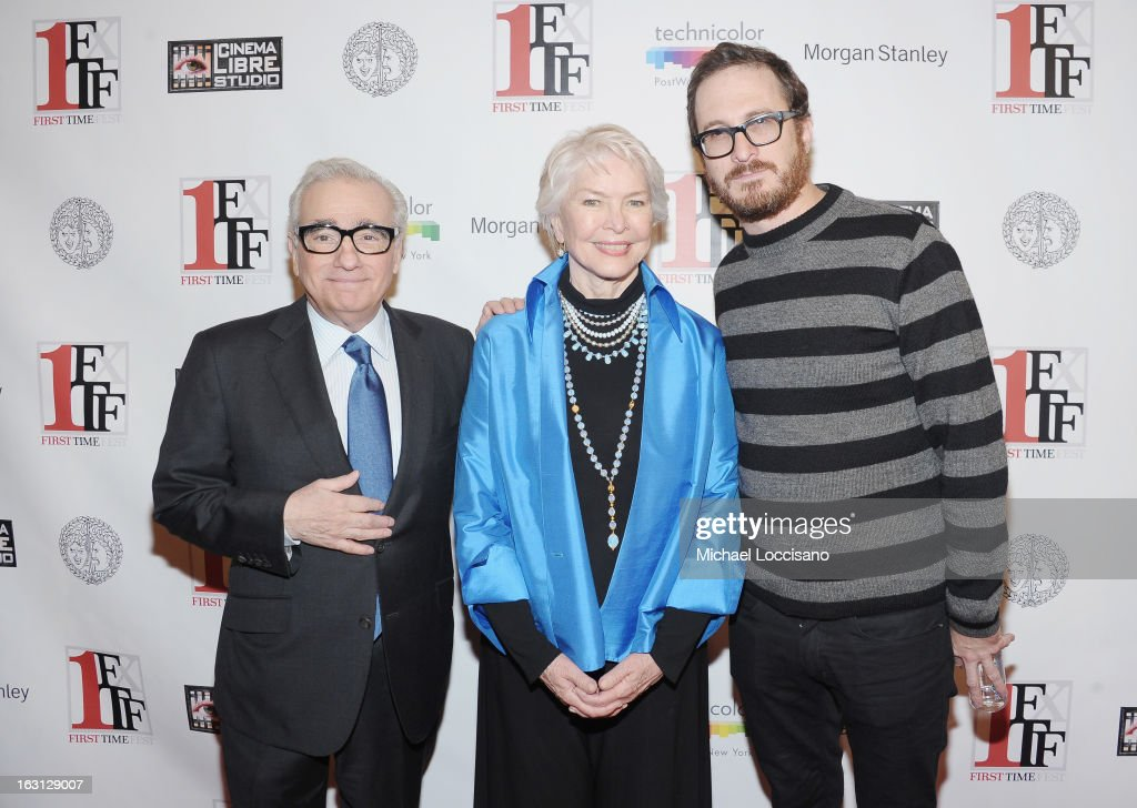 Filmmaker Martin Scorsese, actress Ellen Burstyn and filmmaker Darren Aronofsky attend the closing night awards during the 2013 First Time Fest at The Players Club on March 4, 2013 in New York City.