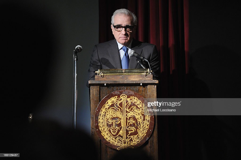 Filmmaker Martin Scorsese addresses the audience during the 2013 First Time Fest closing night awards at The Players Club on March 4, 2013 in New York City.