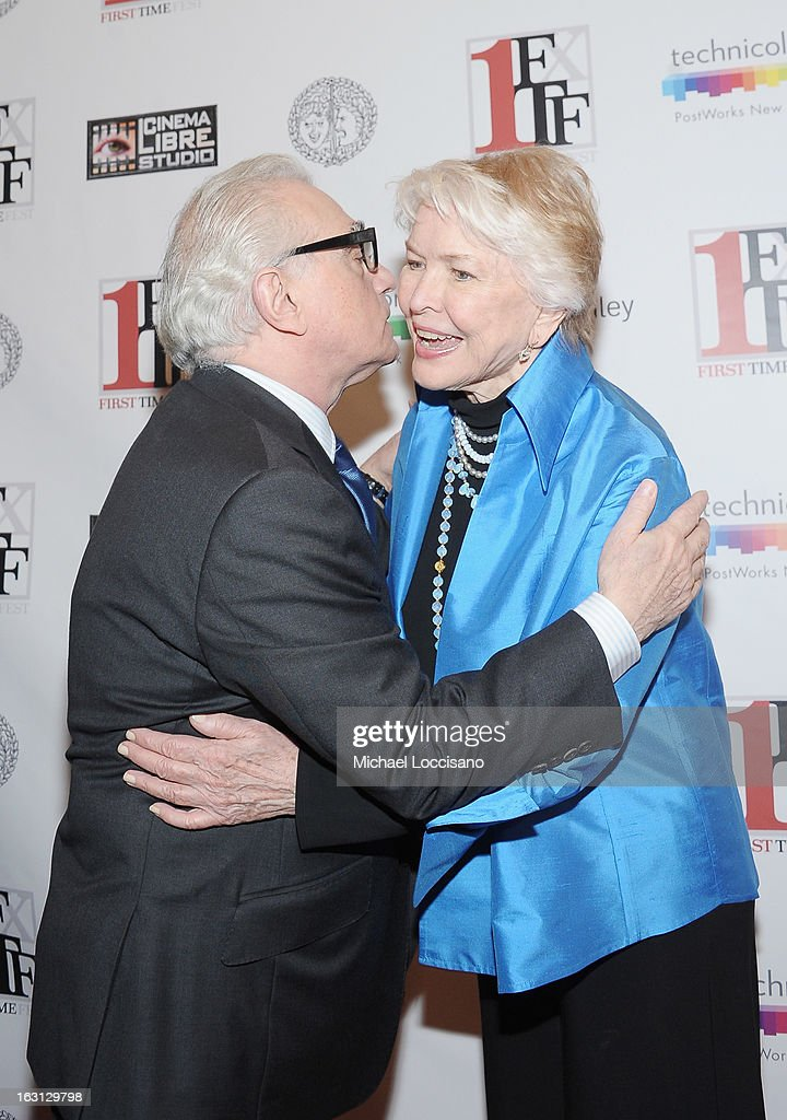 Filmmaker <a gi-track='captionPersonalityLinkClicked' href=/galleries/search?phrase=Martin+Scorsese&family=editorial&specificpeople=201976 ng-click='$event.stopPropagation()'>Martin Scorsese</a> and actress <a gi-track='captionPersonalityLinkClicked' href=/galleries/search?phrase=Ellen+Burstyn&family=editorial&specificpeople=216383 ng-click='$event.stopPropagation()'>Ellen Burstyn</a> attend the closing night awards during the 2013 First Time Fest at The Players Club on March 4, 2013 in New York City.