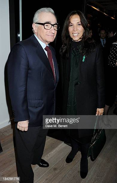 Filmmaker Martin Scorsese and Olivia Harrison attend a special screening of 'The Life and Death of Colonel Blimp' celebrating the restoration of the...