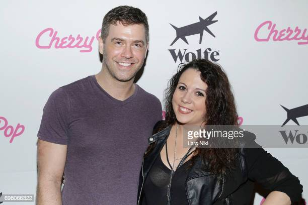Filmmaker Matt Kugelman and Austin Zimmer attend the Cherry Pop Premiere at OutCinema Presented by NewFest and NYC Pride at SVA Theater on June 19...