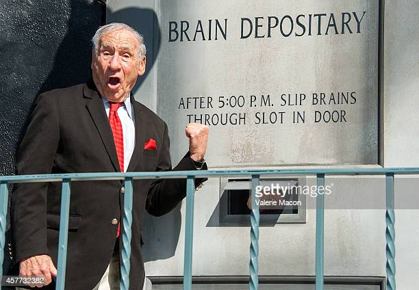 Filmmaker Mel Brooks attends 20th Century Fox Celebrates Mel Brooks And 'Young Frankenstein' 40th Anniversary With Mural And Street Dedication At Fox...