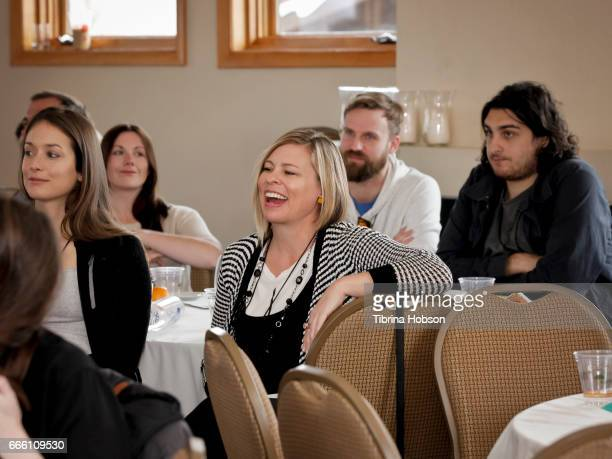 Filmmaker Melissa Beauford attends the 2017 Aspen Shortsfest filmmakers master class on April 7 2017 at Mountain Chalet in Aspen Colorado