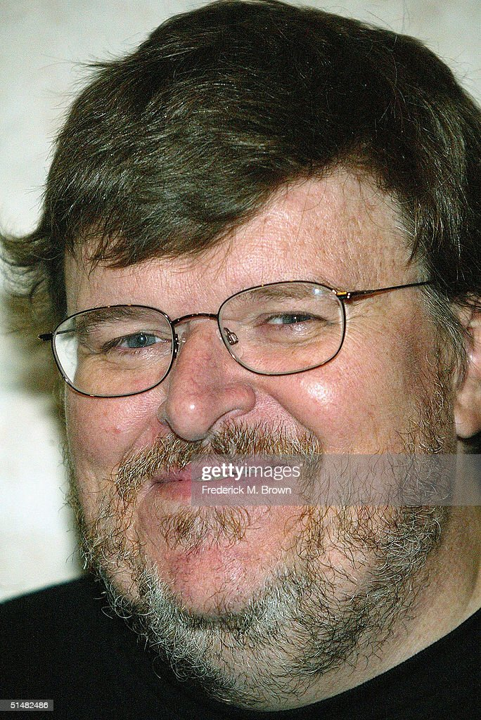 Filmmaker Michael Moore attends the Seventh Annual Awards Dinner 63rd Birthday Celebration for Reverend Jesse L. Jackson, Sr. at the Beverly Hilton Hotel on October 14, 2004 in Beverly Hills, California. The event was sponsored by the Rainbow/Push and the Citizenship Education Fund.