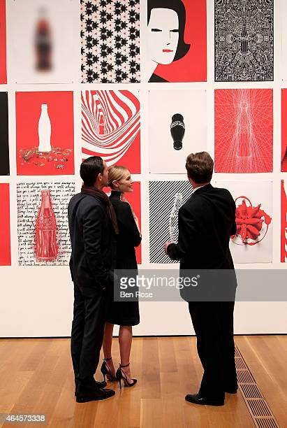 Filmmaker Michael Polish actress Kate Bosworth and Director Heritage Communications at The CocaCola Company Ted Ryan attend The CocaCola Bottle An...