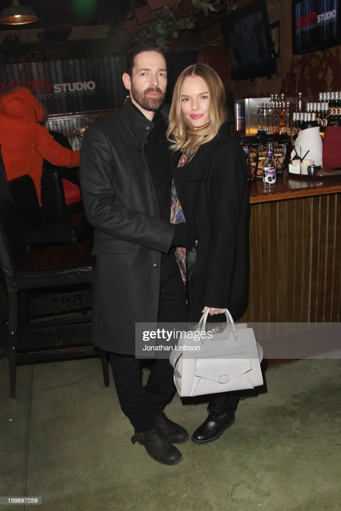 Filmmaker Michael Polish (L) and actress <a gi-track='captionPersonalityLinkClicked' href=/galleries/search?phrase=Kate+Bosworth&family=editorial&specificpeople=201616 ng-click='$event.stopPropagation()'>Kate Bosworth</a> attend Day 4 of the Variety Studio at 2013 Sundance Film Festival on January 22, 2013 in Park City, Utah.