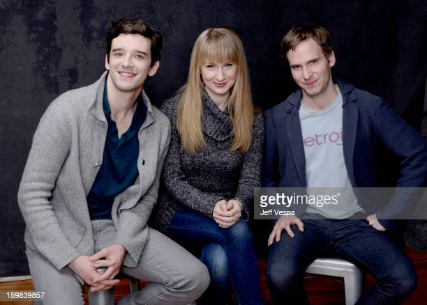 Filmmaker Michael Urie actress Halley Feiffer and filmmaker Ryan Spahn pose for a portrait during the 2013 Sundance Film Festival at the WireImage...