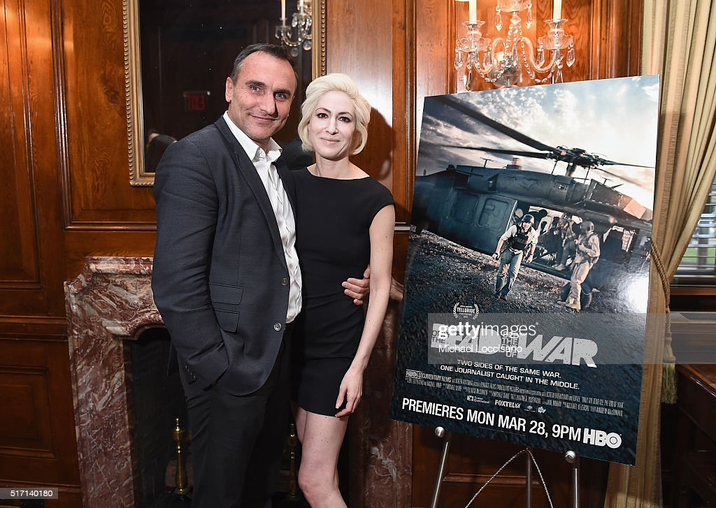 Filmmaker Michael Ware and Executive Producer Justine A. Rosenthal attend the NYC screening of the HBO Documentary Film 'ONLY THE DEAD SEE THE END OF WAR' on March 23, 2016 in New York City.