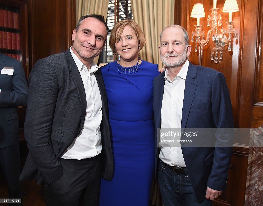Filmmaker Michael Ware, reporter Kim Barker, and filmmaker Bill Guttentag attend the NYC screening of the HBO Documentary Film 'ONLY THE DEAD SEE THE END OF WAR' on March 23, 2016 in New York City.