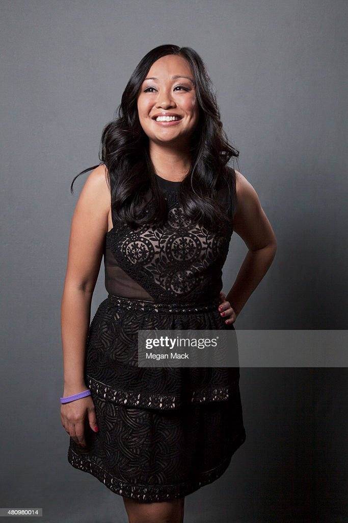 Filmmaker Michele Josue poses for a portrait at the Logo TV's 'Trailblazers' at the Cathedral of St John the Divine on June 25 2015 in New York City