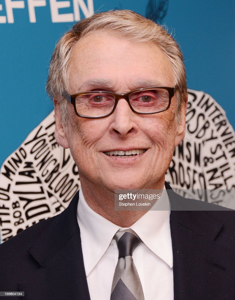 Filmmaker <a gi-track='captionPersonalityLinkClicked' href=/galleries/search?phrase=Mike+Nichols+-+Film+Director&family=editorial&specificpeople=204462 ng-click='$event.stopPropagation()'>Mike Nichols</a> attends the 'Inventing David Geffen' New York Premiere at Paris Theater on November 5, 2012 in New York City.