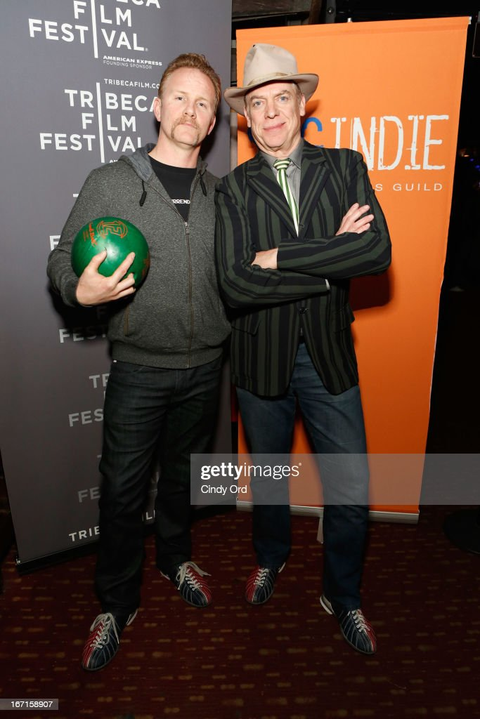 Filmmaker Morgan Spurlock and actor Christopher McDonald attend the SAG/Indie Party during the 2013 Tribeca Film Festival on April 21 2013 in New...