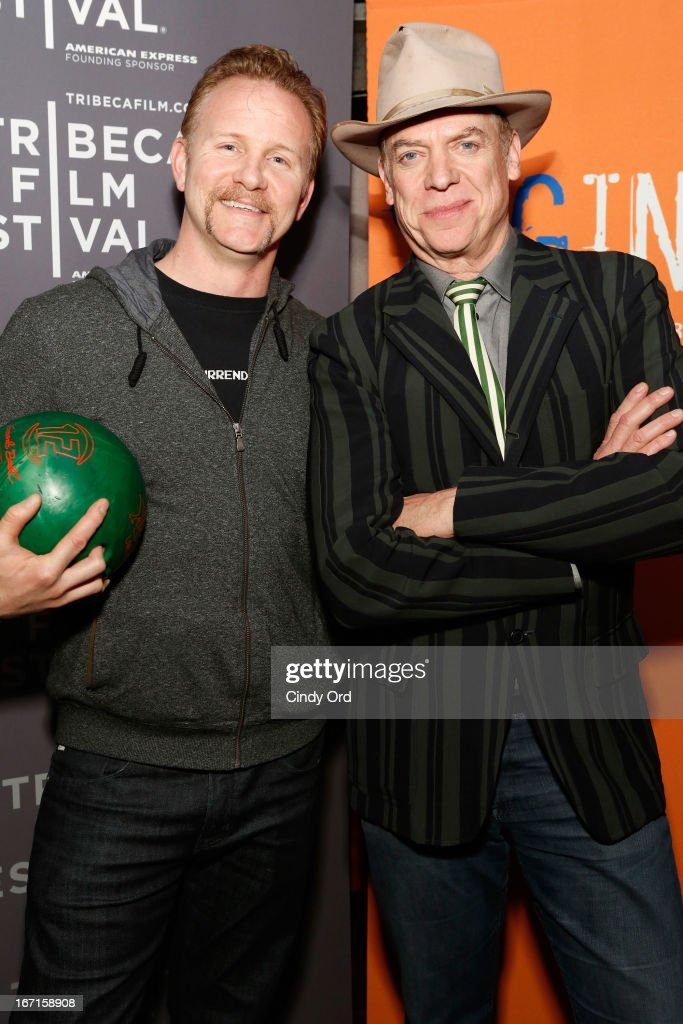 Filmmaker Morgan Spurlock (L) and actor Christopher McDonald attend the SAG/Indie Party during the 2013 Tribeca Film Festival on April 21, 2013 in New York City.