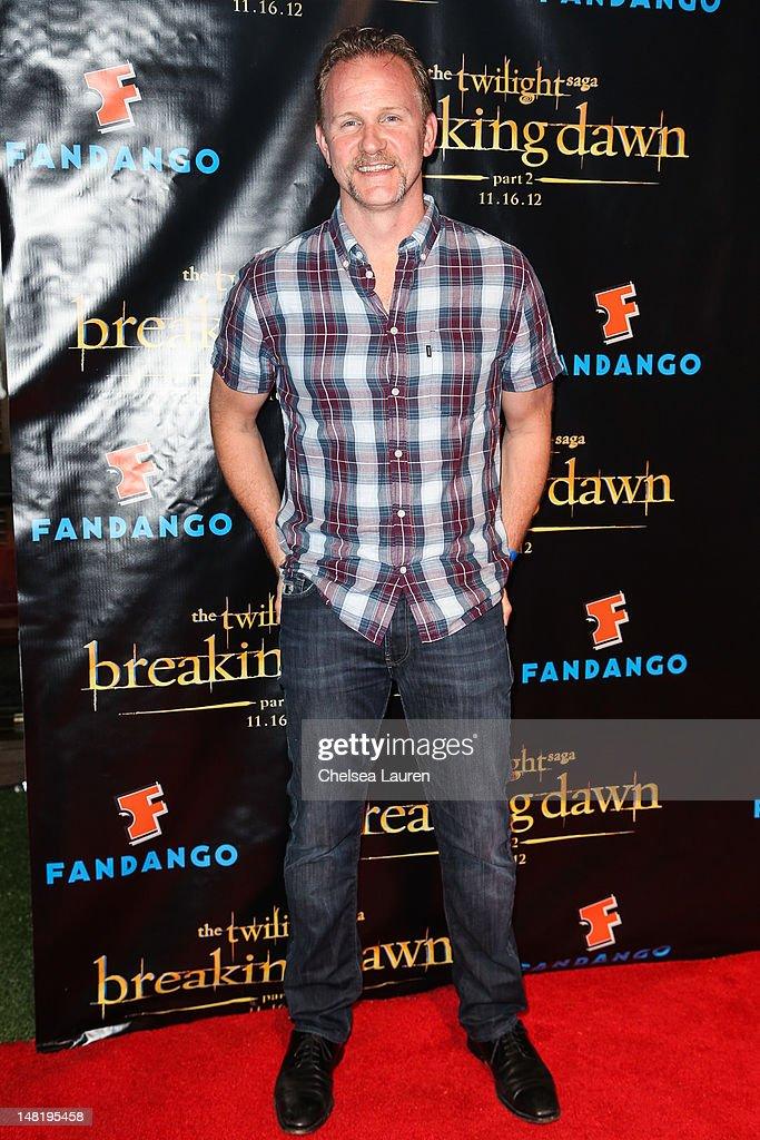 Filmmaker Morgan Spurlock arrives at 'The Twilight Saga: Breaking Dawn - Part 2' VIP Comic-Con celebration at Hard Rock Hotel San Diego on July 11, 2012 in San Diego, California.