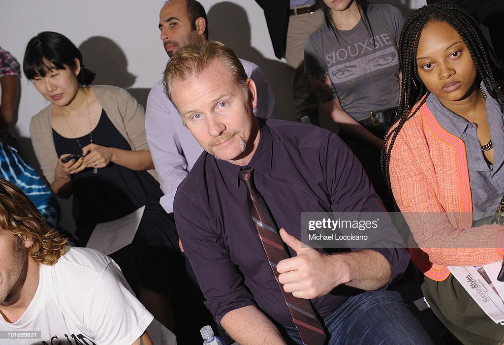 Filmmaker Morgan Spurlock attends Louise Goldin Spring 2013 at Milk Studios on September 12, 2012 in New York City.