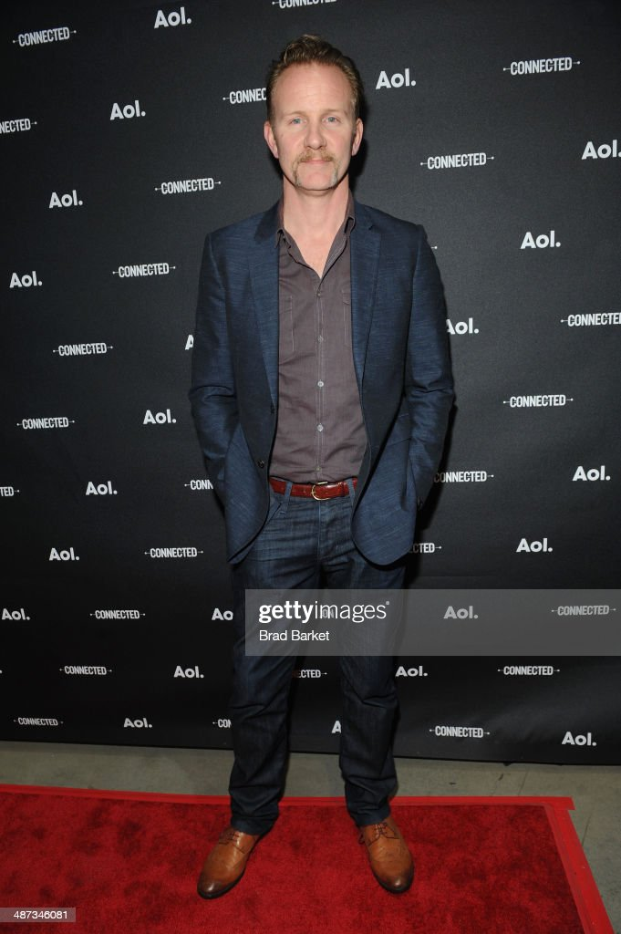 Filmmaker <a gi-track='captionPersonalityLinkClicked' href=/galleries/search?phrase=Morgan+Spurlock&family=editorial&specificpeople=212719 ng-click='$event.stopPropagation()'>Morgan Spurlock</a> attends the 2014 AOL NewFronts at Duggal Greenhouse on April 29, 2014 in New York, New York.