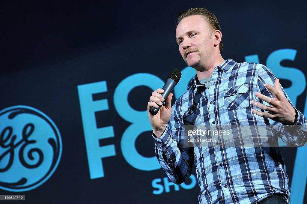Filmmaker Morgan Spurlock attends the Focus Forward, GE and Cinelan Awards Event featuring 'Girl Rising' at The Shop during the 2013 Sundance Film Festival on January 22, 2013 in Park City, Utah.