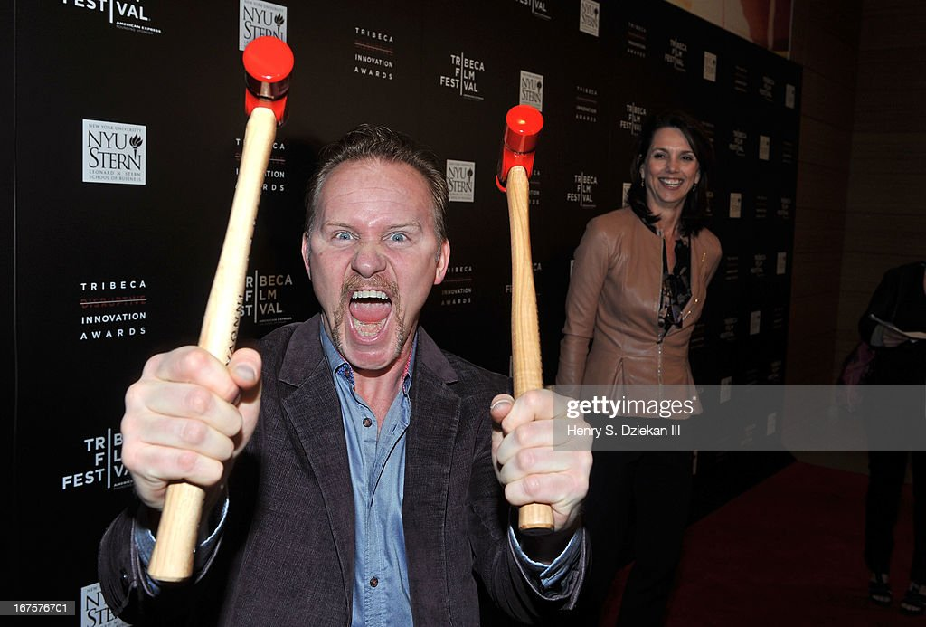 Filmmaker <a gi-track='captionPersonalityLinkClicked' href=/galleries/search?phrase=Morgan+Spurlock&family=editorial&specificpeople=212719 ng-click='$event.stopPropagation()'>Morgan Spurlock</a> attends the Tribeca Disruptive Innovation Awards during the 2013 Tribeca Film Festival at NYU Paulson Auditorium on April 26, 2013 in New York City.