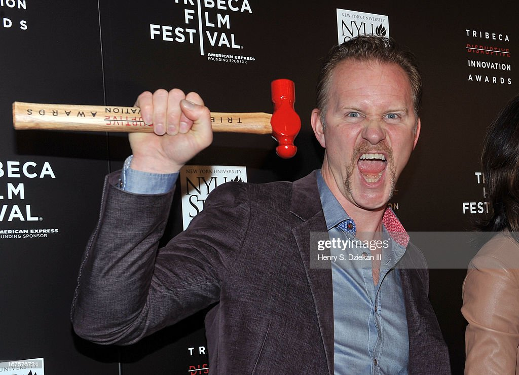 Filmmaker Morgan Spurlock attends the Tribeca Disruptive Innovation Awards during the 2013 Tribeca Film Festival at NYU Paulson Auditorium on April 26, 2013 in New York City.
