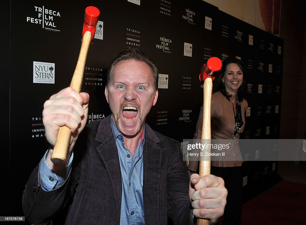 Filmmaker Morgan Spurlock attends the Tribeca Disruptive Innovation Awards during the 2013 Tribeca Film Festival at NYU Paulson Auditorium on April 26, 2013 in New York City.